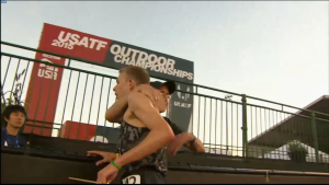 Galen Rupp and Alberto Salazar hugged but didn't talk after it was over