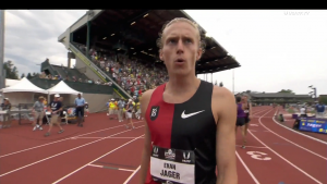 Evan Jager after the race