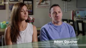 Kara and Adam Goucher