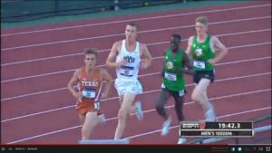 Craig Lutz leading on lap #17