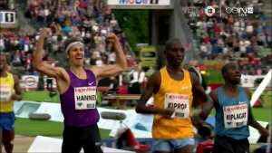 Pieter-Jan Hannes after his national record.