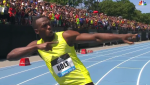 Bolt was having fun before the race
