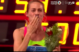 Jenny Simpson After Winning in Rome
