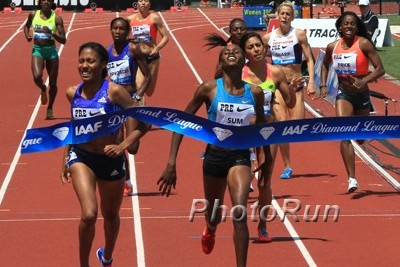 Wilson ran 1:57.87 at Pre in May before injury forced her to shut down her 2015 season after USAs