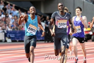 Amos took down Rudisha in London on July 25; he'll need to do the same in Brussels to win the DL title.