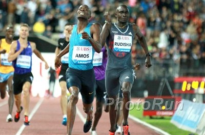 Amos took down David Rudisha and everyone else to win in Lausanne