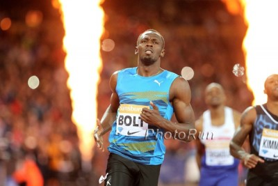 Bolt en route to victory in London last year