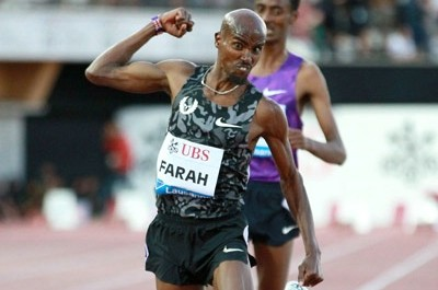 Farah won convincingly in Lausanne on July 9