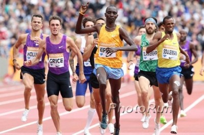 Kiprop won in a variety of ways this year, including in London on July 25