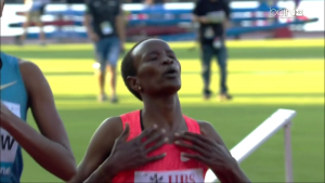 Virginia Nyambura celebrates