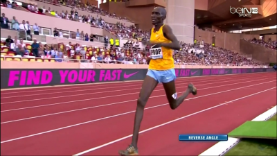 Was Kiprop's utter domination - as shown here in Monaco in 2015 - all a mirage?