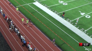 3:27 into the race