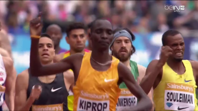 Kiprop won this one but he made it interesting