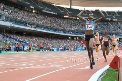 Sum lost just once on the year and her 1:56.99 in Paris was the year's fastest time