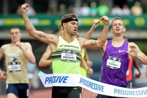 A rare defeat for Nick Symmonds