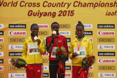 (L to R) Teferi, Jebet and Netsanet Gudeta will all be in action in Paris