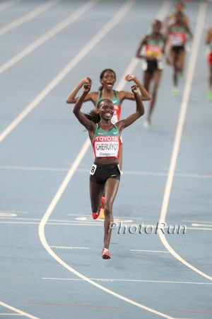 Cheruiyot led a historic 1-2-3-4 sweep for Kenya in 2011; can she recapture that form four years later?