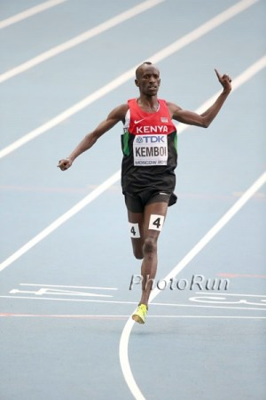 Will Kemboi celebrate another win in Beijing?