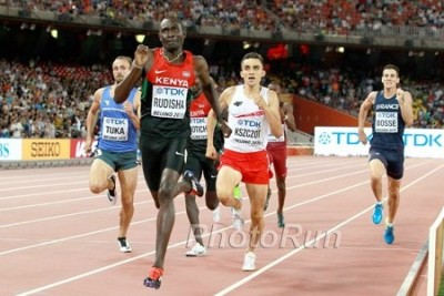 After missing Worlds due to injury in 2013, Rudisha reclaimed the top spot in Beijing