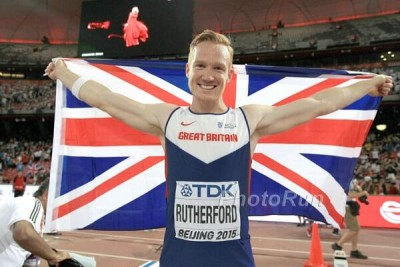 Rutherford after claiming gold in Beijing last year