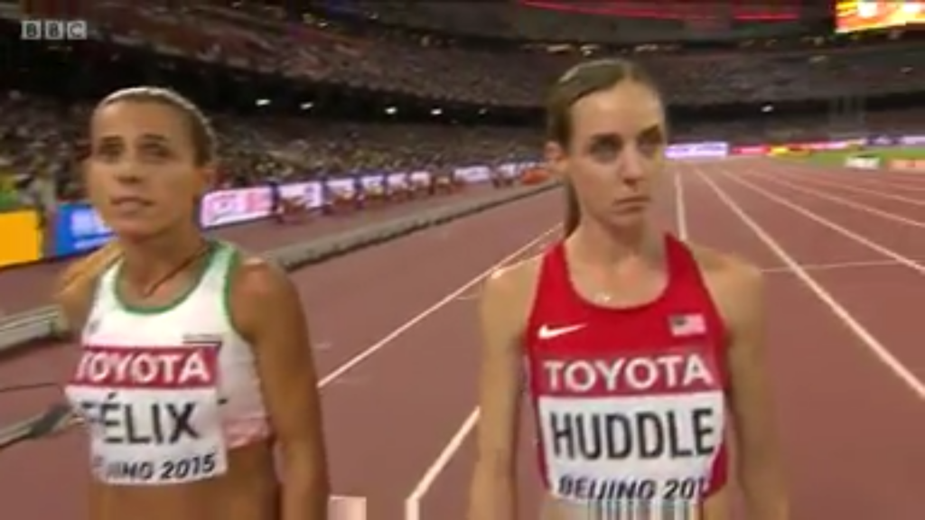 The eventual 4th placer - Molly Huddle