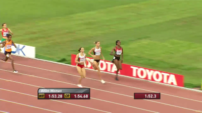 Sum made the final easily on time but for the first time this year, she didn't cross the line first