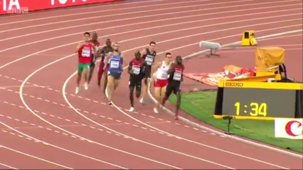 It was tight coming off the final turn but Rudisha was best over the final 100