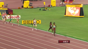Dibaba starting to pour it on with 100 left