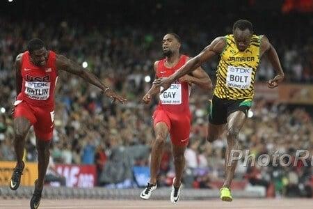 Bolt and Gatlin
