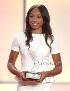 Allyson Felix at the 2012 IAAF Gala