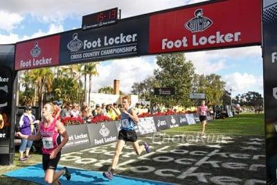 Andrew Hunter (blue) finishes 4th at Foot Locker last year. *More Foot Locker Photos