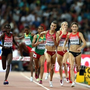 Krause leading Worlds in Beijing