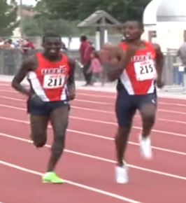 Could Jonah Koech (r) turn into the next great thing at the NCAA level?