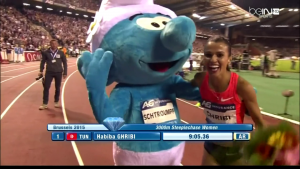 Habiba Ghribi and Smurf