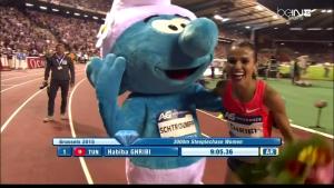 Habiba Ghribi and Smurf