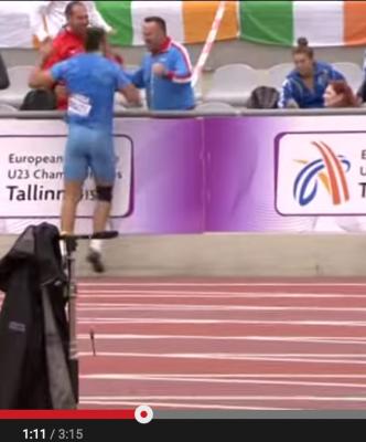 Martin Maric enjoying the European junior championships?