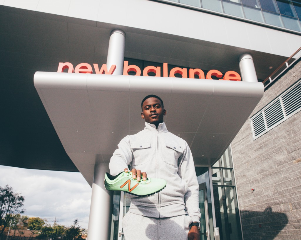 Bromell at New Balance Headquarters