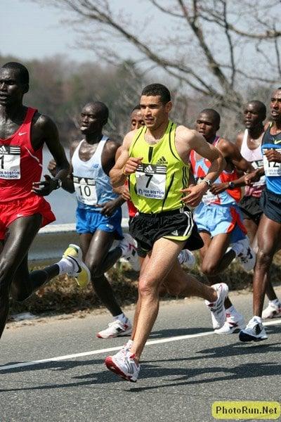 Abderrahime Bouramdane in Boston in 2008. More Boston Marathon Photos.