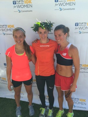 The top three Americans in Boston (from left to right), Sisson, Huddle and Conley