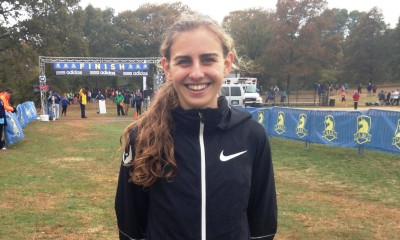 Mary Cain after taking third place at the 2015 Boston Mayor's Cross Country meeting (photo by Chris Lotsbom for Race Results Weekly)