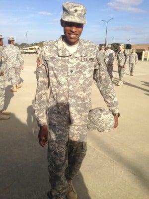 Kibet in his other uniform