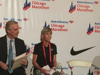 Joan Benoit Samuelson and Tim Malone