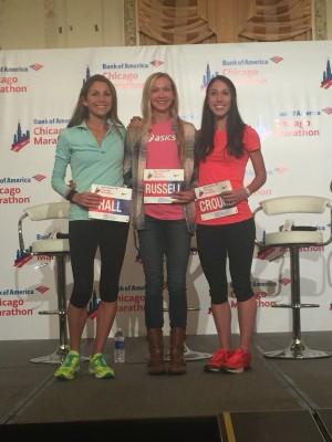 Sara Hall, Blake Russell and Sarah Crouch (r)