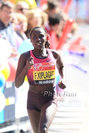 Kiplagat, shown here in 2013, will try to win London in her fourth attempt