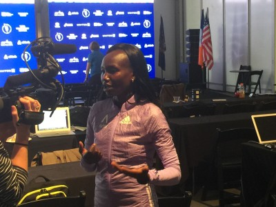 Mary Keitany in NY on Thursday