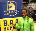 2015 Boston Marathon champion Caroline Rotich of Kenya in advance of the 2015 B.A.A. Half-Marathon (photo by Chris Lotsbom for Race Results Weekly)
