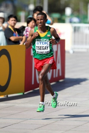 Tsegay en route to World Championship silver in 2015