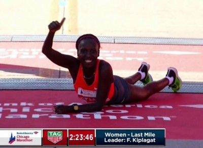 FLorence Kiplagat was pumped