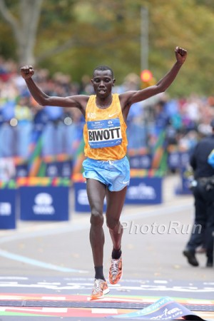After contending in London and New York over the past three years, Biwott finally earned his first major victory in November