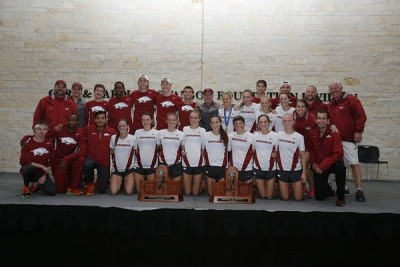 Arkansas swept the SEC titles for the third year in a row on October 30 (courtesy Razorback XC/TF)